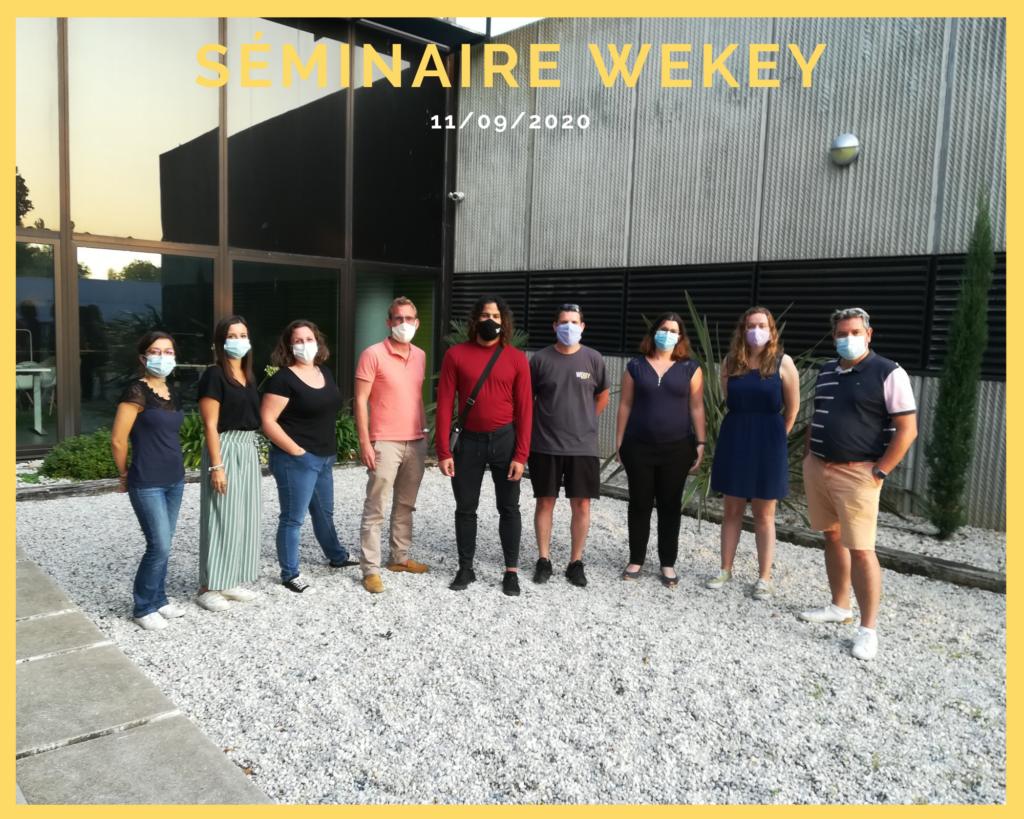 L'équipe Wekey devant la pépinière à Niort le 11 septembre 2020